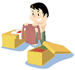 荷詰め荷解き